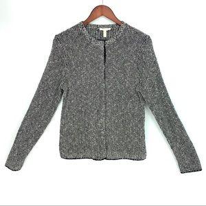 EILEEN FISHER Cardigan Jacket Sweater Crew Boucle